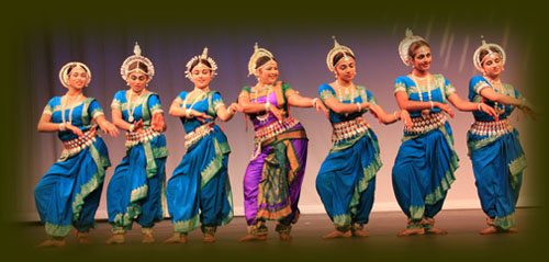 Group in Varsha dance drama